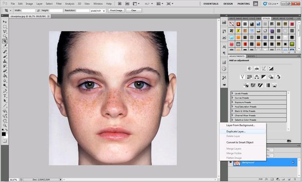 Duplicate Layer, recurso permite ver o antes e o depois. (Foto: Isabela Catão)