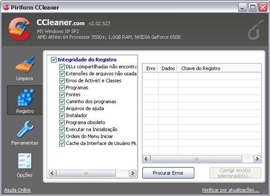CCleaner (Foto: Reprodução/Claudia Sardinha)
