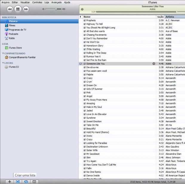iTunes (Foto: Reprodução/Isabela Catão)