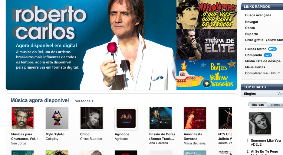 iTunes Brasil (Foto: Reprodução)