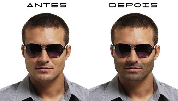 Ferramentas no Photoshop permitem criar barba (Foto: Reprodução/Isabela Catão)
