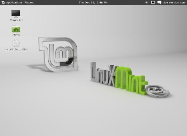 Linux Mint 12 (Foto: Reprodução/Alessandro Iglesias)