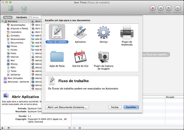 Como renomear múltiplos arquivos no Mac OS X Abertura-automator