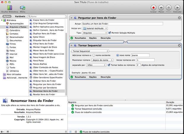 Como renomear múltiplos arquivos no Mac OS X Final-do-fluxo