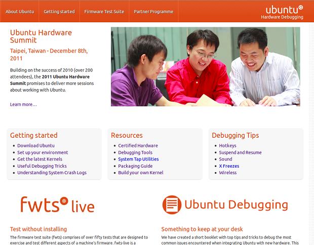 Novo portal da Canonical para desenvolvedores (Foto: Reprodução)