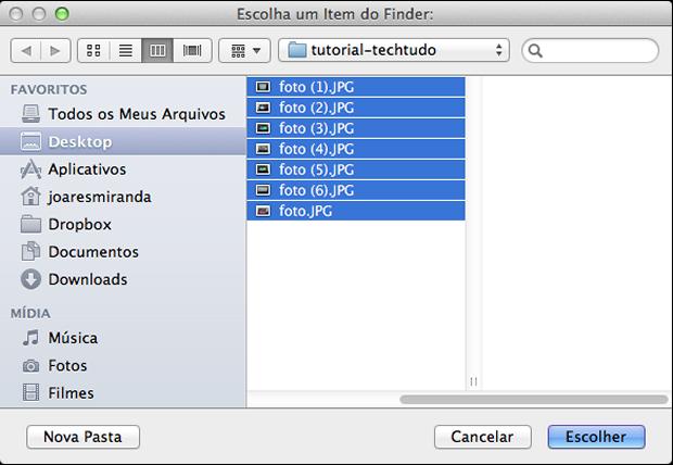 Como renomear múltiplos arquivos no Mac OS X Selecao-itens
