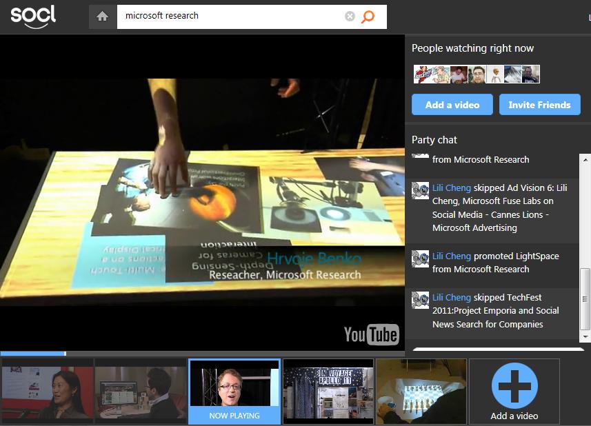 So.cl, experimento de busca social da Microsoft (Foto: Divulgação)