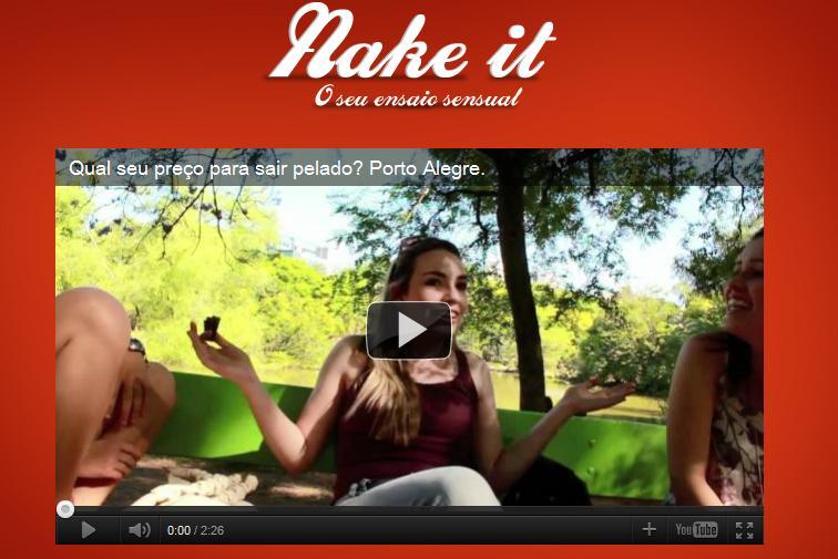 Nake it, vaquinha virtual para ensaios sensuais de anônimos na Internet. (Foto: Reprodução)