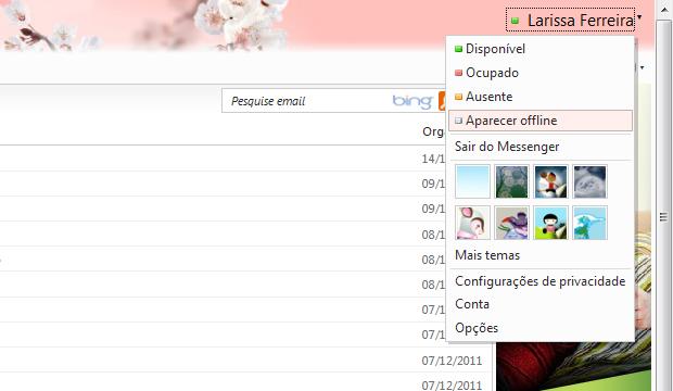 Ficar Invisível para os contatos do MSN