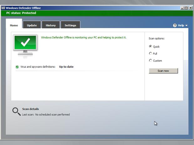 Windows Defender Offline (Foto: Reprodução/Helito Bijora)