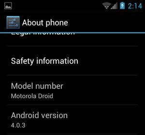 Motorola Milestone com Android 4.0 (Foto: Divulgação)