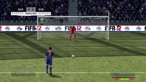Cobrança de pênalti no Fifa 12 (Foto: Reprodução)