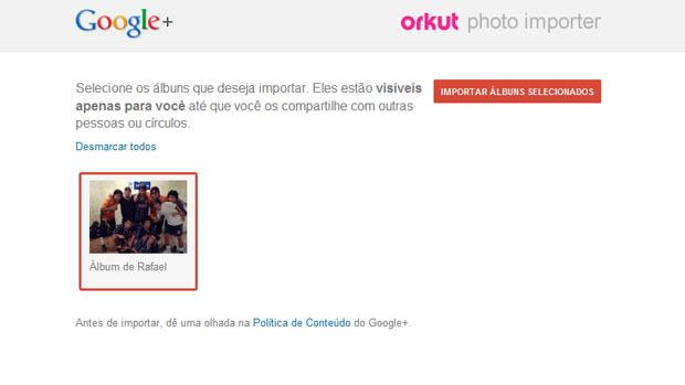 Google divulga aplicativo para importar fotos do Orkut ...