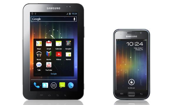 Samsung Galaxy Tab e Galaxy S com Android Ice Cream Sandwich (Foto: Arte)