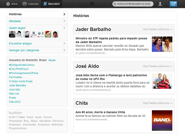 Novo Twitter (Foto: Reprodução/Helito Bijora)