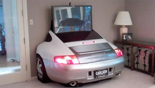 Porsche 966 modificado para rack de TV (Foto: Reprodução)