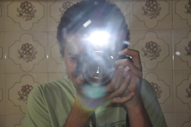 Foto tirada com flash (Foto: Reprodução/Lucas Conrado)