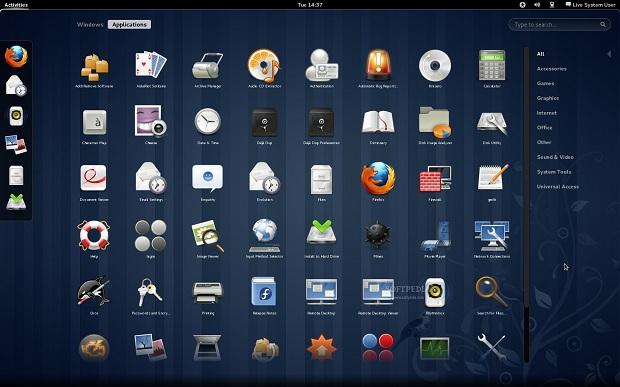 Fedora 15 com GNOME 3 (Foto: Reprodução/Softpedia)