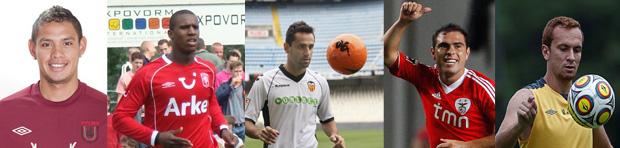 Carlos Eduardo - Douglas Franco Teixeira - Jonas - Bruno César - Zé Eduardo (Foto: TechTudo)