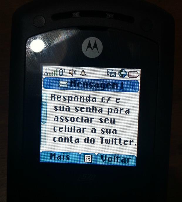 Responda a SMS com sua senha do Twitter (Foto: Aline Jesus)