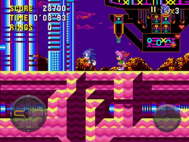 Sonic e Amy (Foto: Reprodução/Bruno do Amaral)