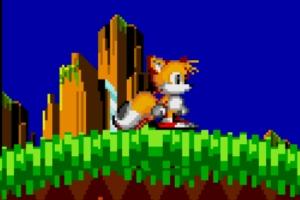 Tails aparece no remake (Foto: Reprodução/Bruno do Amaral)