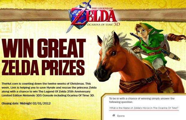 Site faz promoção de The Legend of Zelda, mas confunde herói com princesa (Foto: Divulgação)