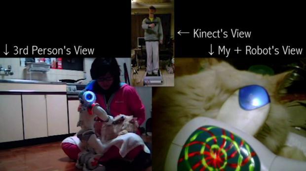 Demonstração de realidade virtual com Kinect e Wiimotes (Foto - Reprodução)
