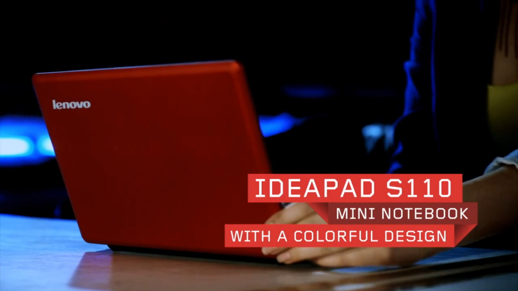 O design do Ideapad S110 facilita a mobilidade (Foto: Divulgação)