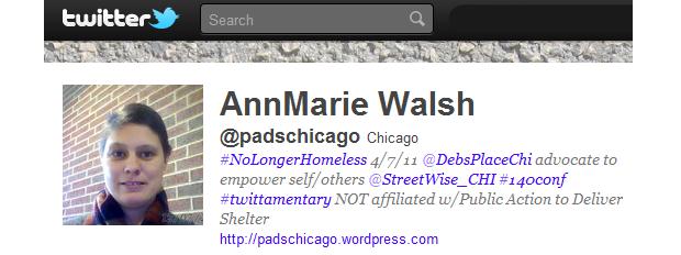 AnnMarie Walsh criou novas oportunidades e encontrou conforto no Twitter  (Foto: Reprodução/ Twitter)