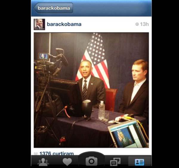 Obama em suas primeiras aparições no Instagram (Foto: Reprodução)