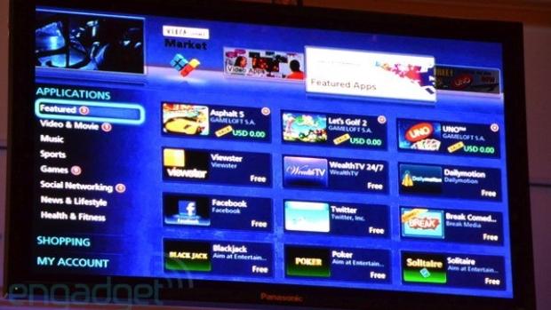 Panasonic Viera Connect com aplicativos  (Foto: Reprodução/Engadget)