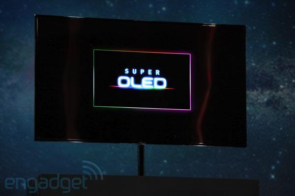 TV Samsung Super OLED de 55 polegadas apresentada na CES 2012 (Foto: Reprodução/Engadget)