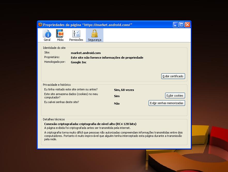 Mensagem que o Mozilla Firefox exibe ao detectar um certificado de segurança SSL em uma página. (Foto: Reprodução/ TechTudo)