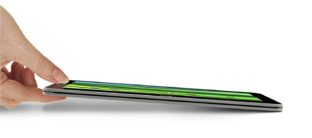O Excite X10 chega a ser mais fino e leve que o iPad 2 da Apple (Foto: Divulgação)