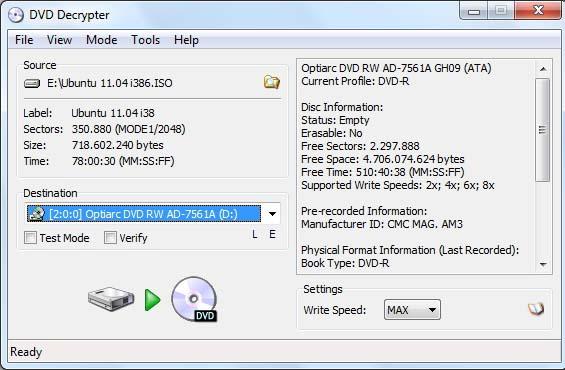 Após a seleção do arquivo ISO que será gravado em DVD. (Foto: Reprodução Verônica Vasque)