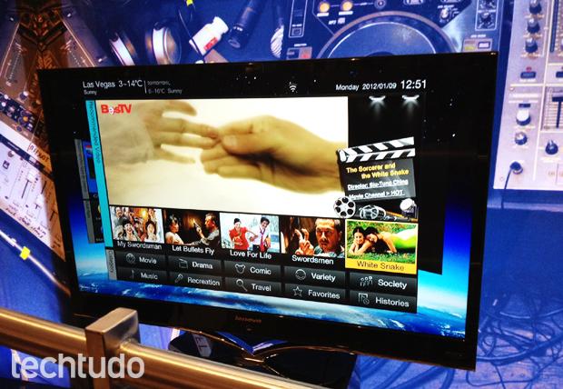 IdeaTV K91, a TV com Android da Lenovo (Foto: Divulgação: Nick Ellis / TechTudo)