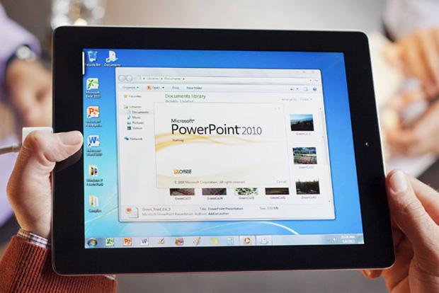 OnLive traz o Windows 7 para iPad (Foto: Reprodução/Ubergizmo)