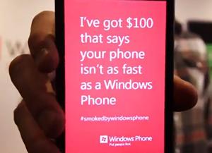 Microsoft desafia outros aparelhos a superarem desempenho de seus Windows Phones (Foto: Reprodução)