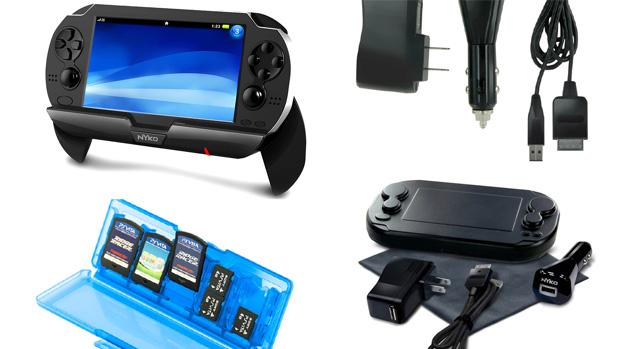 Nyko exibe linha de acessórios para o PS Vita na CES 2012 (Foto: Kotaku)