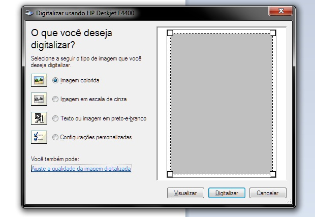 Digitalizando documentos pelo Paint