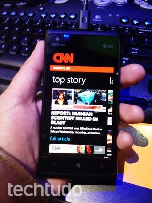 Nokia Lumia 900 (Foto: Nick Ellis/TechTudo)