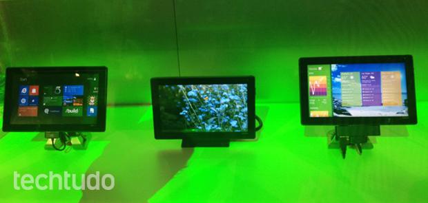 Tablets com Windows 8 (Foto: Nick Ellis/TechTudo)