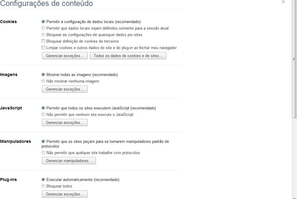 """Selecione """"Permitir que todos os sites executem JavaScript"""" (Foto: Reprodução Verônica Vasque)"""