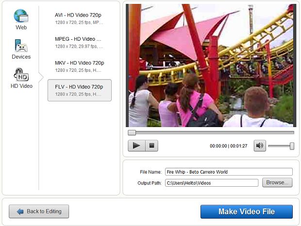 Salvando vídeo editado (Foto: Reprodução)