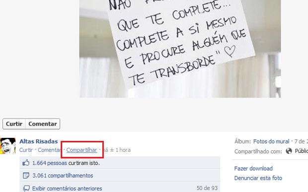 Como compartilhar fotos no Facebook