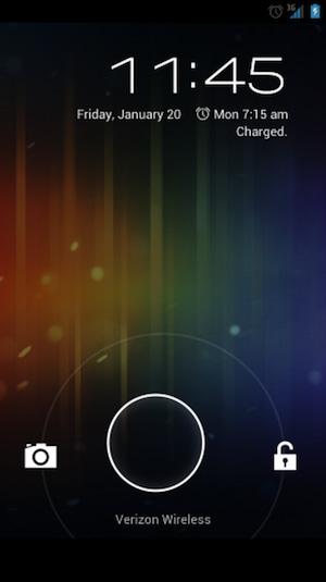 Tela de Desbloqueio Galaxy Nexus (Foto: Divulgação)
