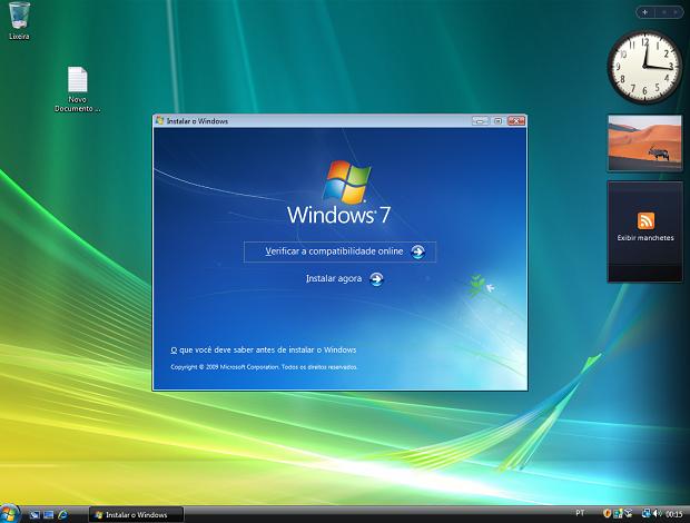 Instalando o Windows 7 em cima do Vista (Foto: (Foto: Reprodução/ Helito Bijora))