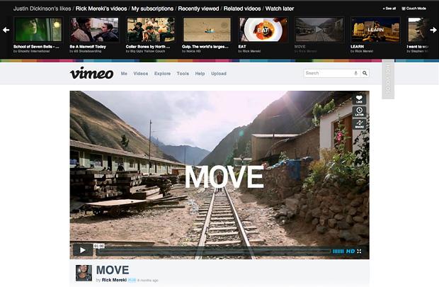 Nova página de vídeos do Vimeo (Foto: Divulgação)