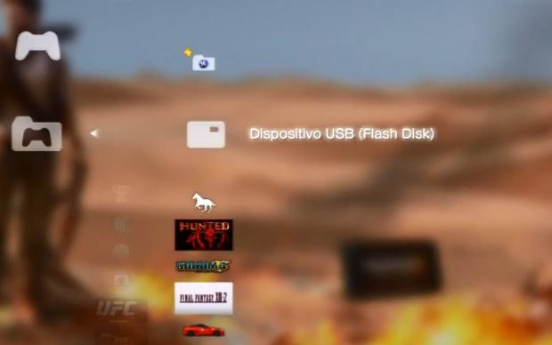 """Escolha  a opção """"Dispositivo USB"""" (Foto: Reprodução)"""